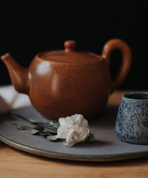 Vajilla artesanal de cerámica de alta temperatura